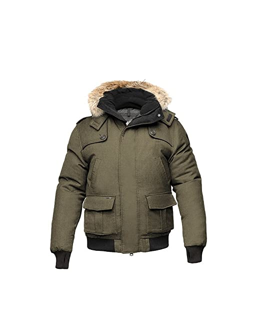 Nobis Men's The Cartel Down Bomber Jacket, Army Green, X-Small