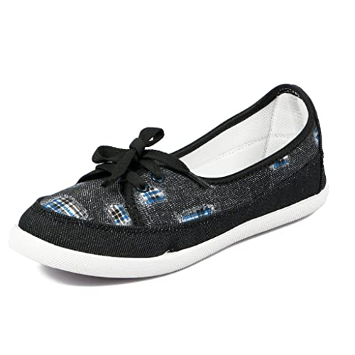 2057cfad9b1834 Asian shoes LR-72 Black Canvas Ladies Shoes 9UK India  Buy Online at Low  Prices in India - Amazon.in