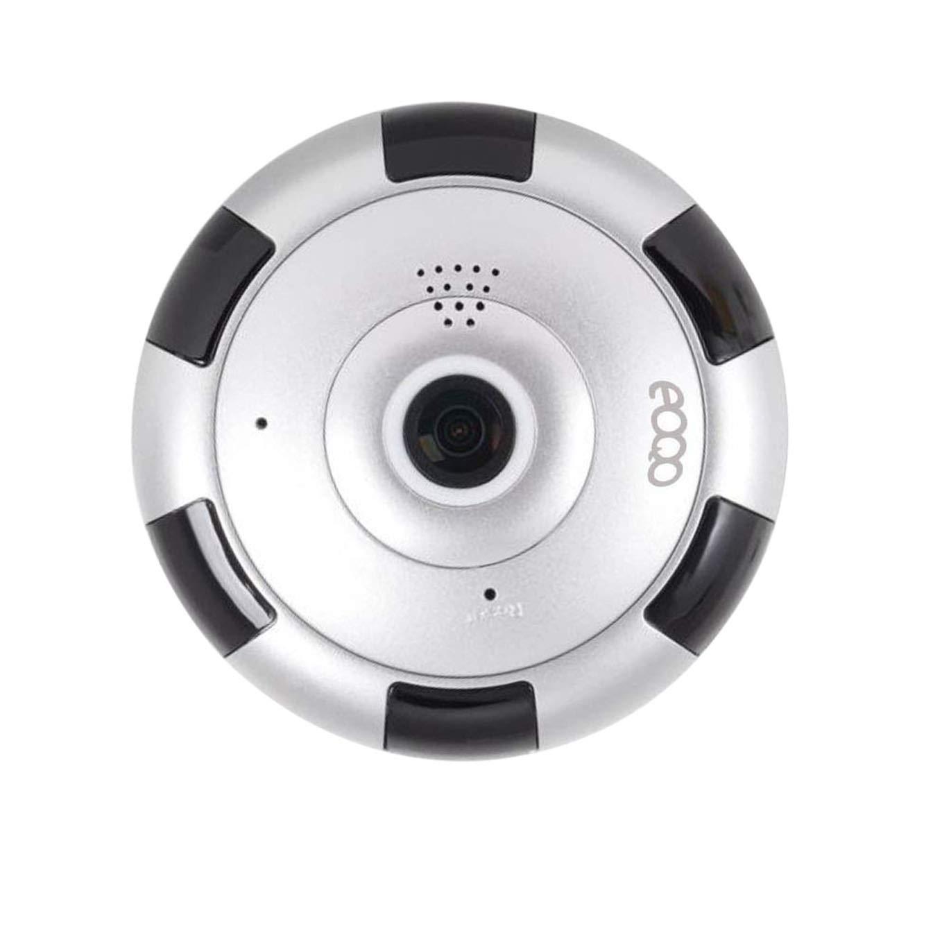 eoqo Cámara de Vigilancia IP HD WiFi IR Vision Nocturna Com con Micrófono y Altavoz Detección de Movimiento Sonido Alarma Inalámbrico para Puerta ...