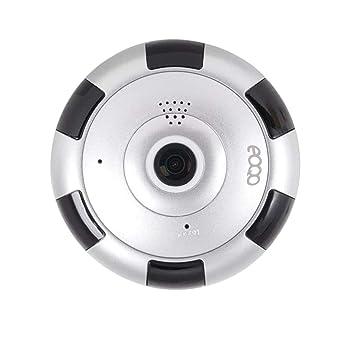 eoqo Cámara de Vigilancia IP HD WiFi IR Vision Nocturna Com con Micrófono y Altavoz Detección