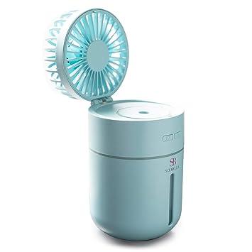Electric Mni Fan 2 in 1 Mist Personal Mini Desk Fan Humidifiers for Office,...