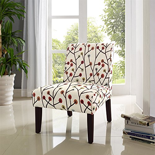 Dorel Living Teagan Armless Accent Chair - Upholstered Accent Chair