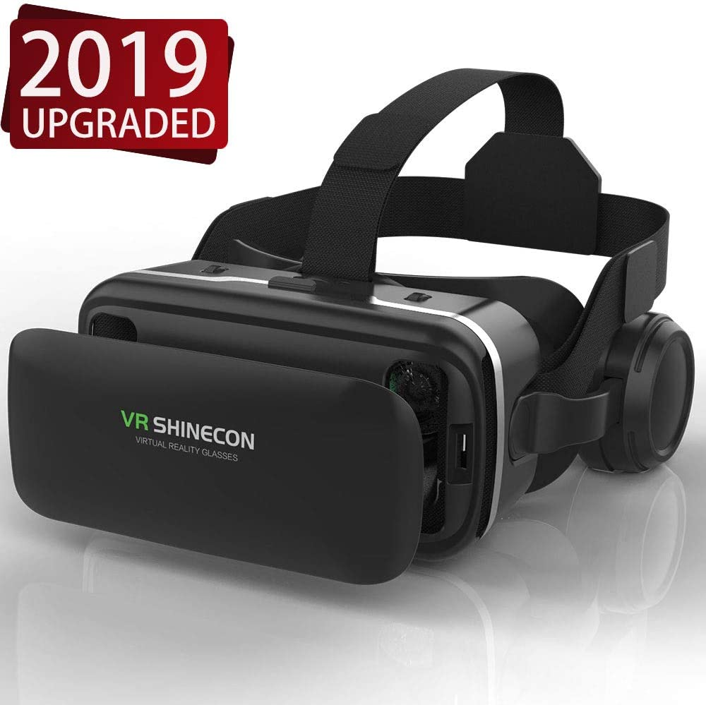 VR Headset,Virtual Reality Headset,VR SHINECON 3D Glasses for Movies, Video,Games - VirtuReality Glasses VR Goggles for iPhone, Android
