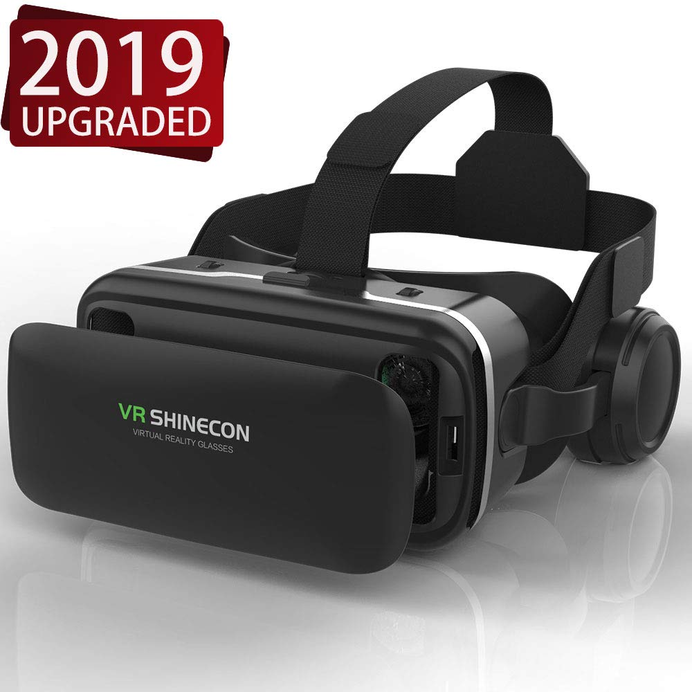 VR Headset,Virtual Reality Headset,VR SHINECON 3D Glasses for TV, Movies & Videal o Gam VRes - VirtuReality Glasses VR Goggles for iPhone, Android and Other Phones Within 4.7-6.0 inch by VR SHINECON
