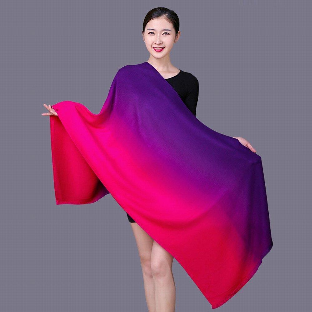 TYERY Variedad de Bufandas Bufanda Multifuncional Imitación Cachemir Cachemir Imitación Color Gradiente Bufanda Chal Femenino, Rojo Brillante 97dd37