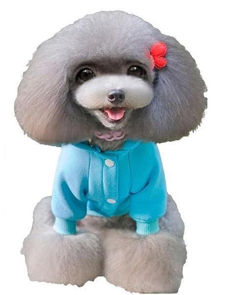 EOZY Costumes / Sudaderas / Abrigo Para Perros Gatos Mascota Con Capucho Talla S Azul