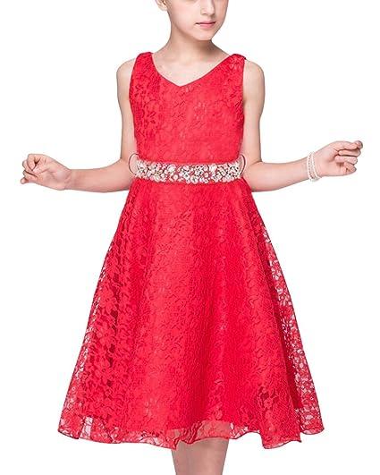 981ac976a LaoZan La Princesa Flor De Las Muchachas De Boda Formal Dama De Vestido  Noche De Fiesta