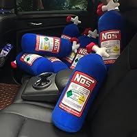Steellwingsf NOS óxido nitroso botella tanque creativo felpa Throw almohada cojín para viaje de coche (azul)