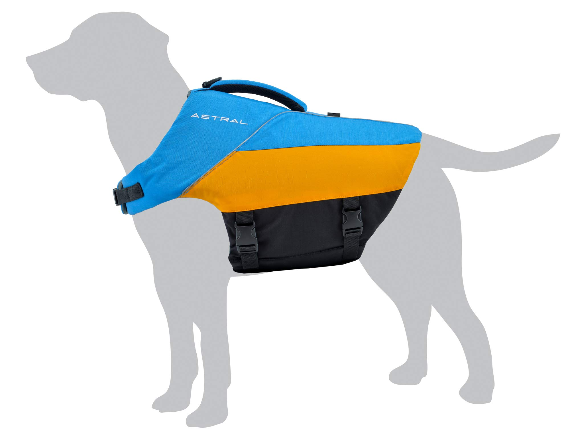 Astral BirdDog Dog Life Jacket PFD for Swimming and Water Play, Ol' Blue, Large