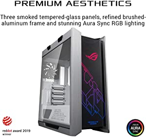 ASUS ROG Strix Helios GX601 White Edition RGB Mid-Tower Computer Case for ATX/EATX Motherboards with Tempered Glass, Aluminum Frame, GPU Braces, 420mm Radiator Support and Aura Sync