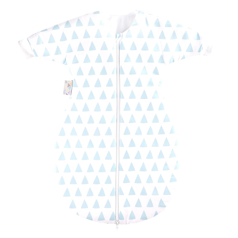 Zöllner Jersey Winterschlafsack mit Arm gefüttert Gr. 110 Triangel blue
