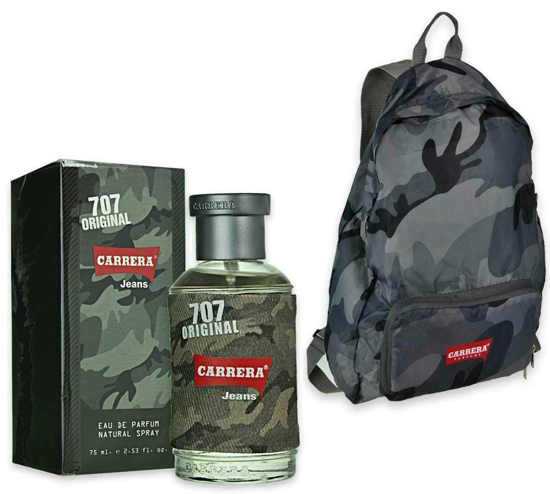 carrera jeans set confezione regalo uomo eau de parfum 75 ml - zainetto jeans parfums