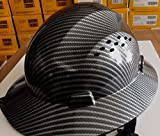 TRUECREST Hydro Dipped Black Full Brim Hard Hat with Fas-trac Suspension