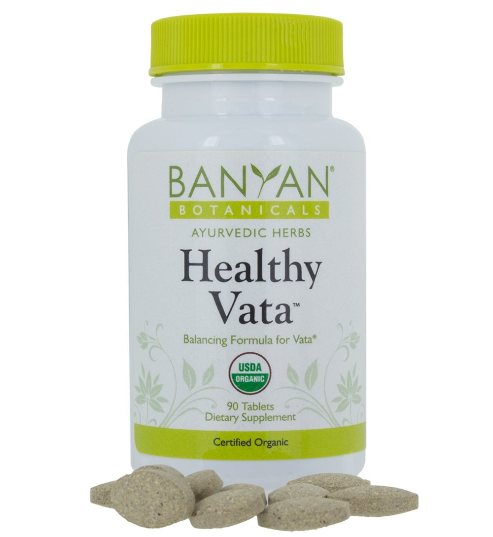 Banyan Botanicals Healthy Vata - USDA Organic, 90 Tablets - Grounding & Nourishing - Balances Vata Dosha*