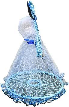 handgefertigt Fischernetz Outdoor Nylon Falt Fangnetz Fisch Garnelen-K/äfig Falle Netz Salzwasser Csatai Angeln Net Wurfnetz