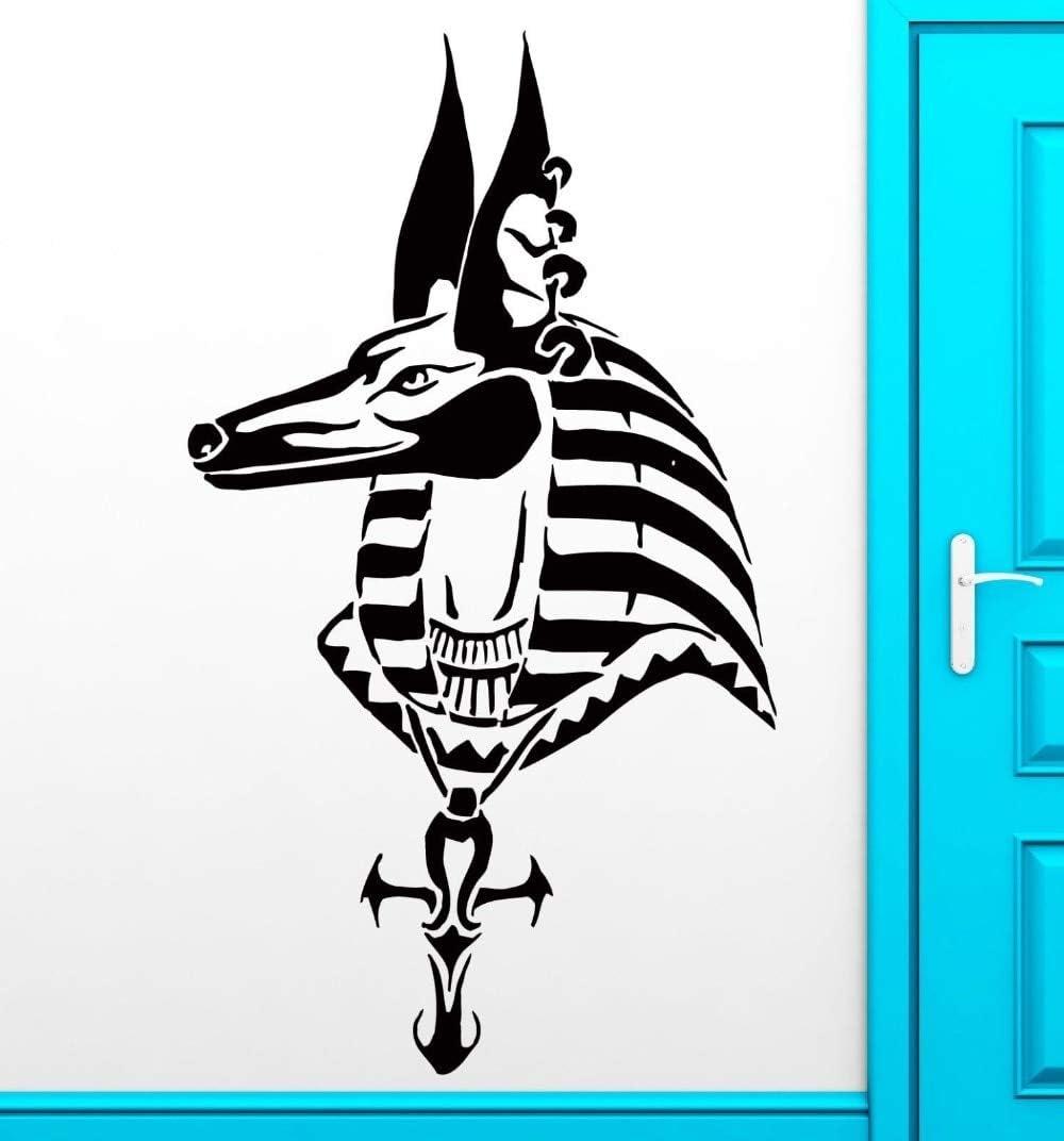 fancjj Moda extraíble Etiqueta de La Pared Anubis Egipto Dios Mitología Caballo Calcomanía para El Dormitorio Decoración del Hogar Arte Etiqueta Engomada del Vinilo 30X57CM