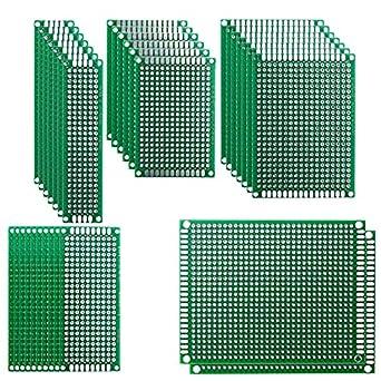 Amazon.com: haitronic en blanco de doble cara circuito PCB ...