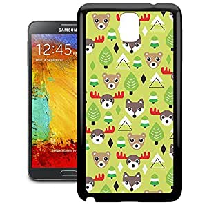 Bumper Phone Case For Samsung Galaxy Note 3 - Christmas Forest Animals Rubber Premium