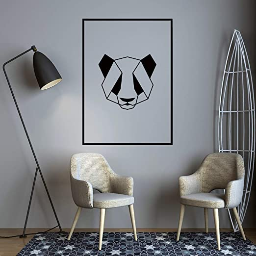 HNXDP Nordic Geometry Panda Etiqueta de la pared Pegatinas ...