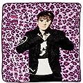 Justin Bieber - Pink Leopard Twin Blanket