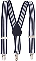 Sportoli Kids and Baby Adjustable Elastic Solid Wedding Suspenders - 21 Colors