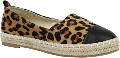 Femme By Shoes Espadrille Style Cuir