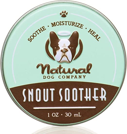 Natural Dog Company Snout Soother, Dog Nose Balm for Chapped, Crusty and Dry Dog Noses, Organic, All Natural Ingredients