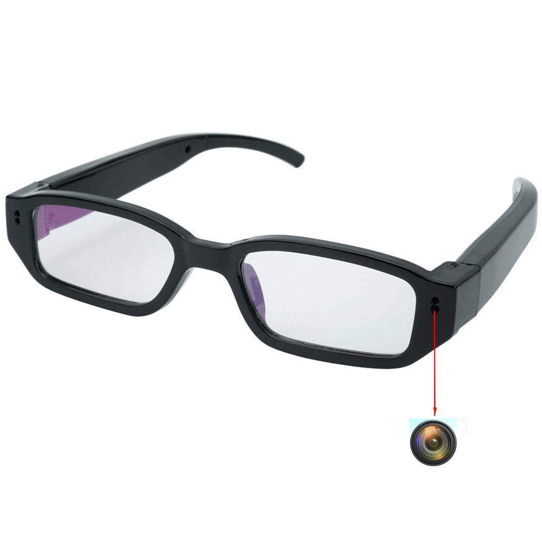 Flylinktech HD Mini Spy Glasses Hidden Camera Eyewear DVR Camcorder With Hidden Sport Camera (Black)