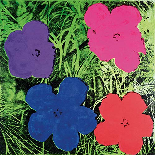 Posters: Andy Warhol Poster Art Print - Flowers, C.1964 (1 Purple, 1 Blue, 1 Pink, 1 Red) (14 x 11 inches) Andy Warhol Flower Prints