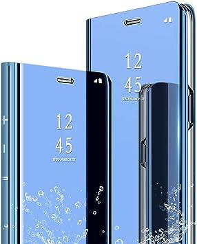 POBIN Para Xiaomi Mi 9T Funda,Translúcido Espejo Standing Cover ...