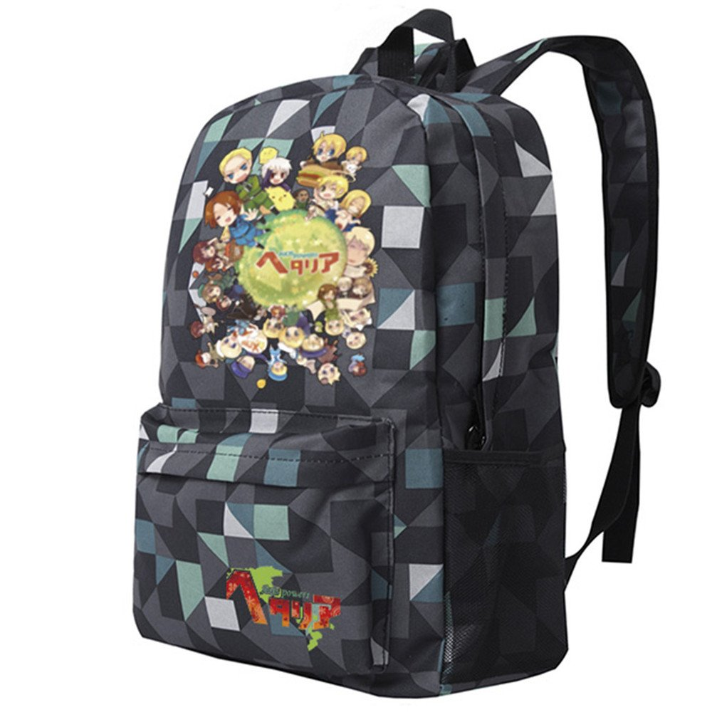 Siawasey Anime Axis PowersヘタリアコスプレブックバッグDaypack Collegeバックパックスクールバッグ   B071X94M8D