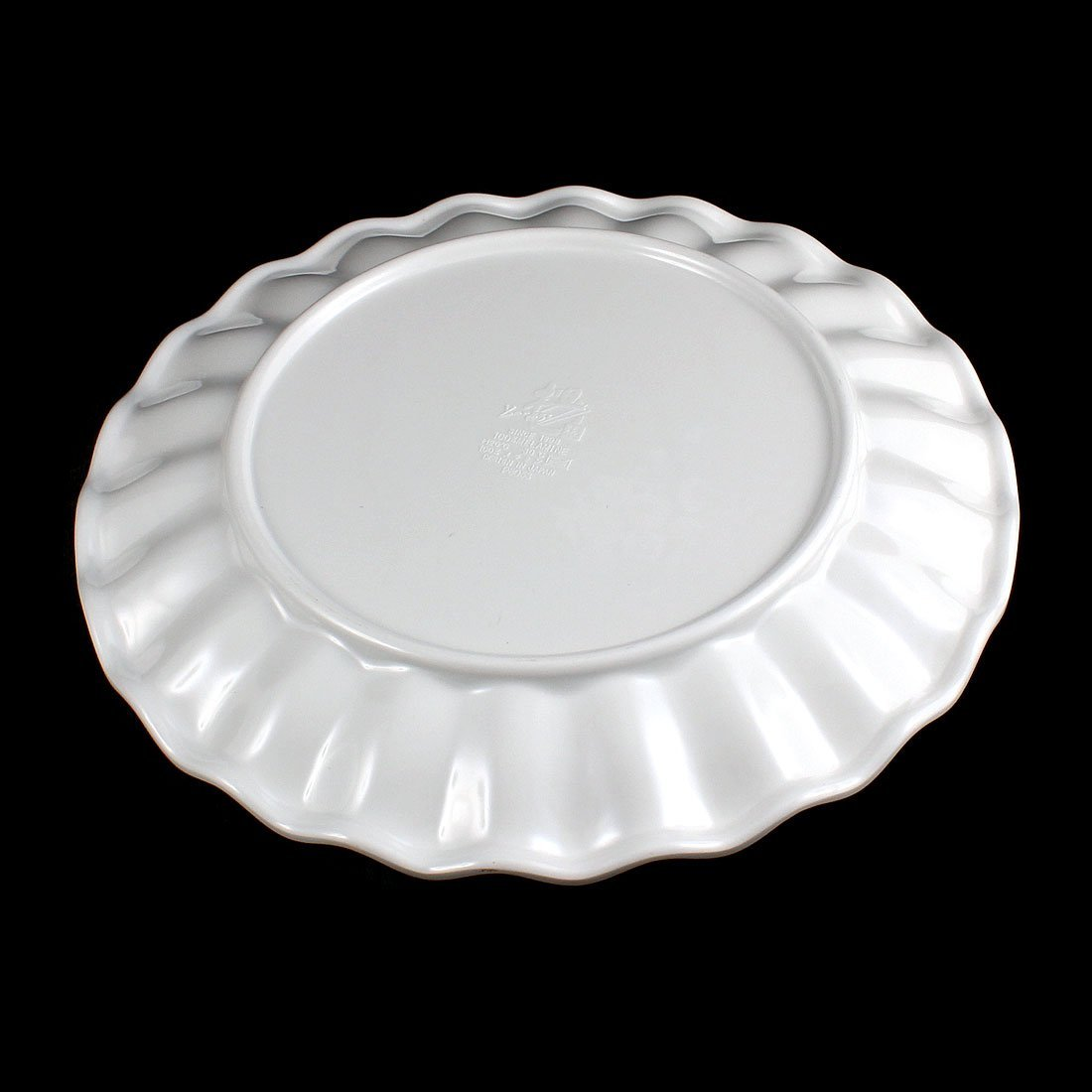 Amazon.com: DealMux borda ondulada Almoço Fruta placa prato Bandeja Louça 24, 5 centímetros Dia Branco: Kitchen & Dining