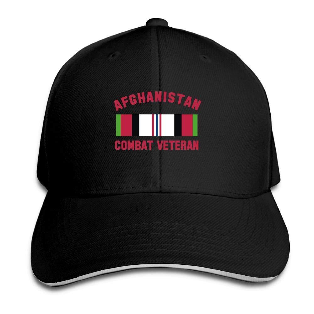 Unisex Adjustable Sandwich Hats Solid Colors Baseball Cap Snapback Hat Afghanistan Combat Veteran by Gnvbg Hat (Image #1)