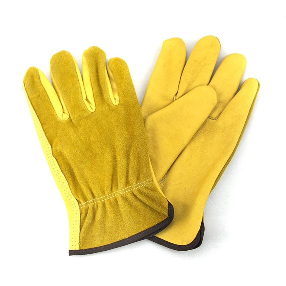 Easy to Assemble 1Pair Leather Garden Gloves Working Protection Gloves Security Garden Labor Gloves Wear Safety Tools (Color : L) by Tuersuer (Image #3)