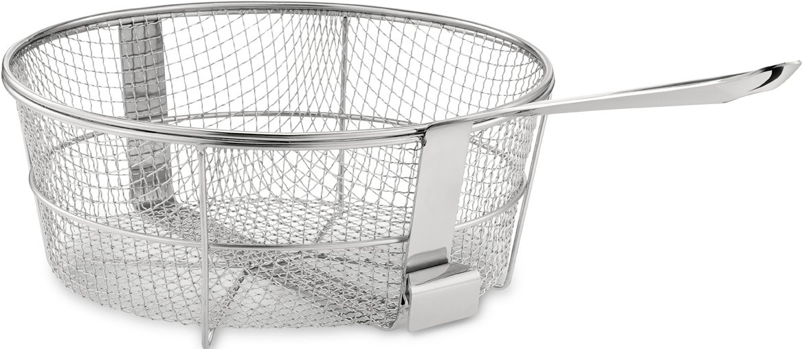 All Clad 59930 Dishwasher Safe Fry Basket Cookware 6 Quart Silver