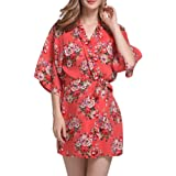 YOLIA Women Robes Floral Printed Comfy Kimono Nighties Sleepwear Dressing  Gowns eff9ba367