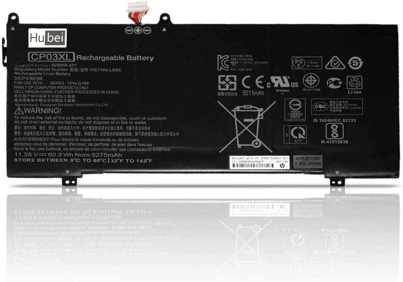 11.55V 60.9Wh CP03XL Replacement Laptop Battery for Battery HP TPN-Q199 Series Notebook HSTNN-LB8E 929066-421 929072-855 3ICP4/85/98