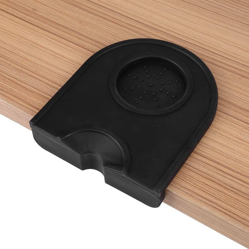 Support /à tamper caf/é Noir Multifonction /épaississant anti-d/érapant Support /à tamper caf/é en silicone Noir