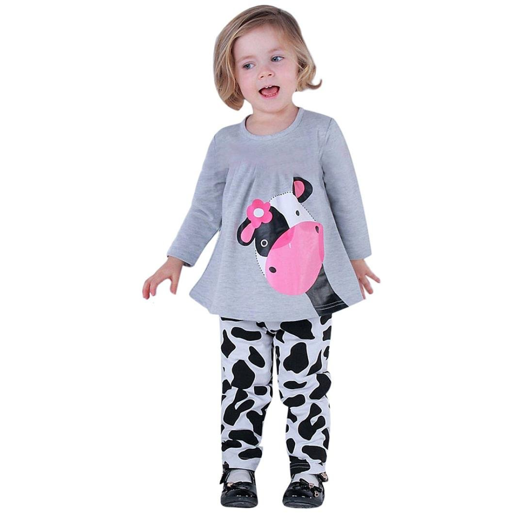 Koly Baby Clothing Sets Spring Autumn Outfits Clothes T-shirt Tops + Pants 2PCS Set