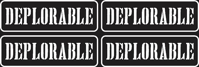 4PCS* HELMET HARD HAT DEPLORABLE TRUMP SUPPORT STICKER  DECAL BUMPER