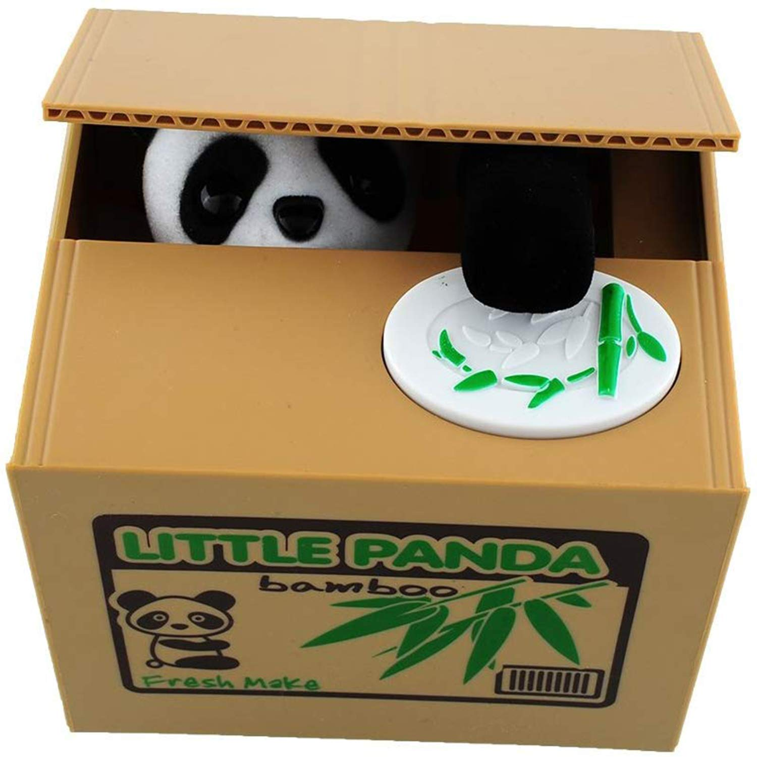 LMTECH Little Panda Money Bank Saving Box Panda Money Box Stealing Coin Panda by LMTECH