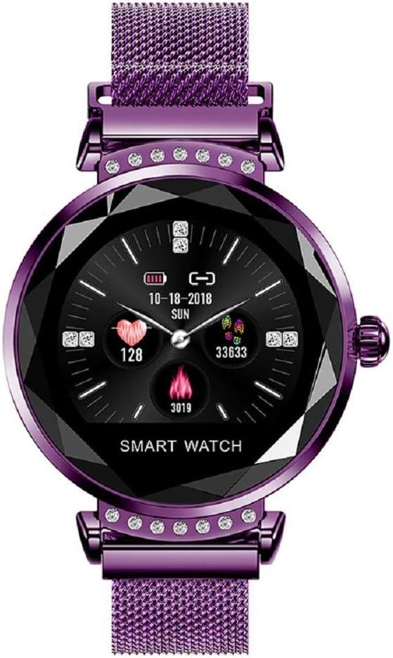 AI WATCH Mujeres Reloj Inteligente 3D Diamond Glass PPG Ritmo ...