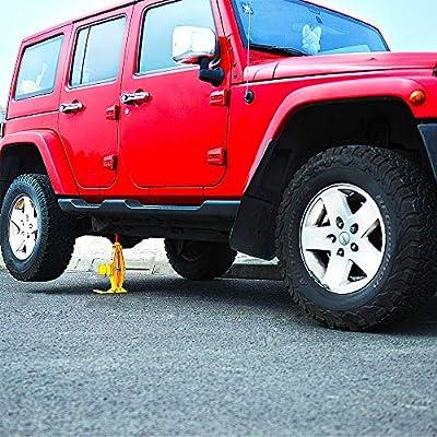 WOKEZ Electric Car Jack Auto Floor Jack All-in-one 12V Lift for Sedans SUV Double Saddles Remote Tire Change Repair Emergency Tool Kits Vehicle Floor Jack Wheel Change 3 Ton: Automotive