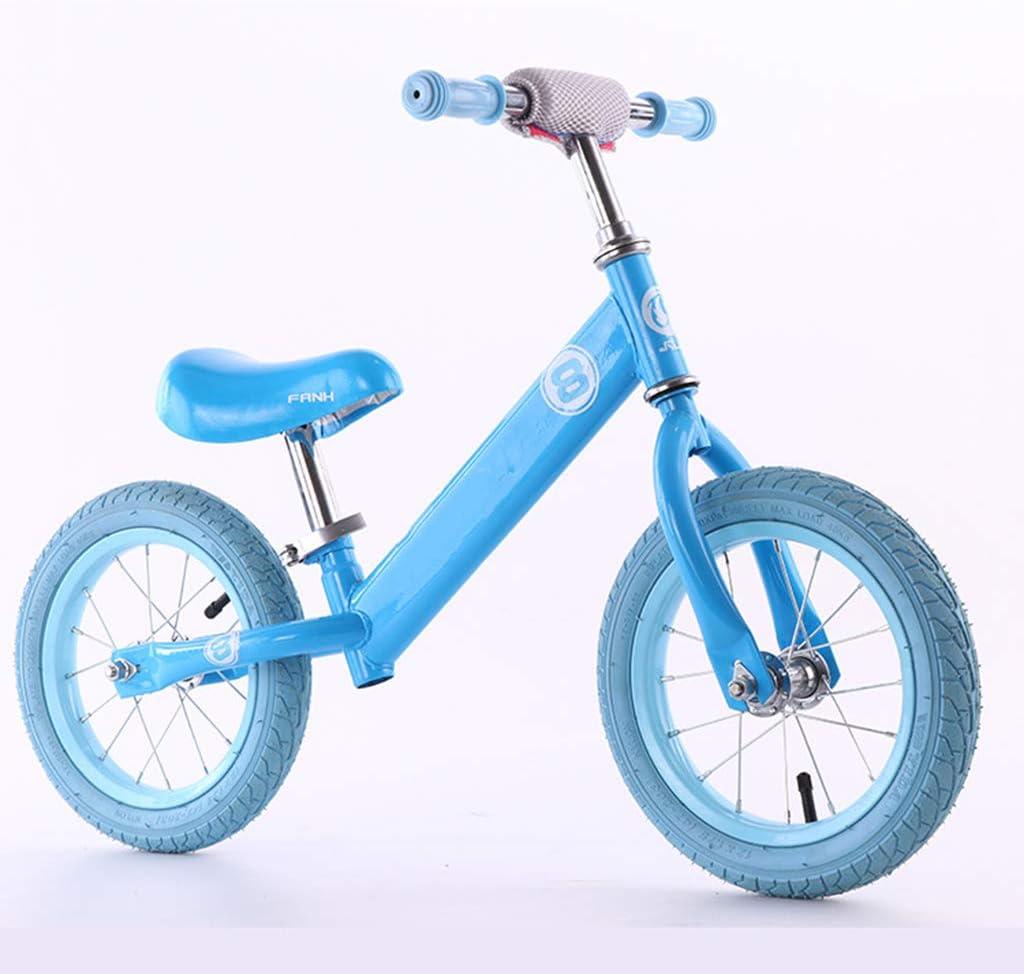 GASLIKE Empuje niño Equilibrio Planeador Bici Ruta de Bicicletas para niños y niñas de 12 Pulgadas de 18 Meses 2 3 4 5 años de Edad los niños pequeños,Azul
