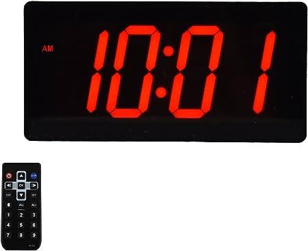 Grande Digital – Reloj de pared mejor reloj despertador con mando a distancia – 4