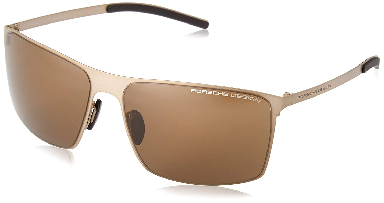 brown Eyeglasses Porsche Design P 8667 D V 379 E 89 gold