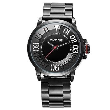 Reloj De Hombre Impermeable Escala De Color Fleje De Acero Tendencia Reloj De Cuarzo Personalidad La