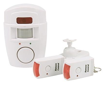 Olympia BM 200 Detector de Movimiento PIR con Alarma (inalámbrico Alarma, 105 Db Alarma