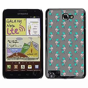 ZECASE Funda Carcasa Tapa Case Cover Para Samsung Galaxy Note I9220 No.0001916