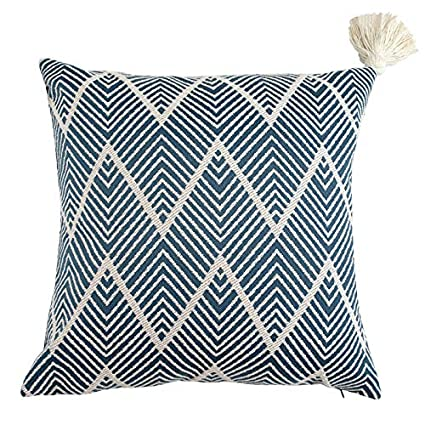 ab71f0ae47687 Amazon.com  Ojia Tribal Pillow Cover Throw Woven Cotton Tassel Cushion case  for Home